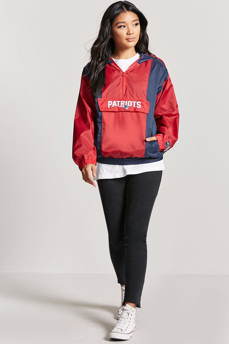 quality design 1e09a 5cf21 Forever 21 Red New England Patriots Anorak