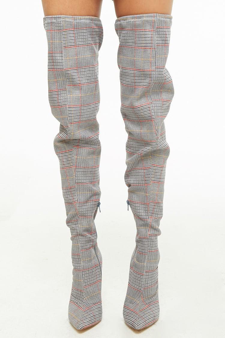 dfeff4282a6 ... Glen Plaid Thigh-high Boots - Lyst. View fullscreen