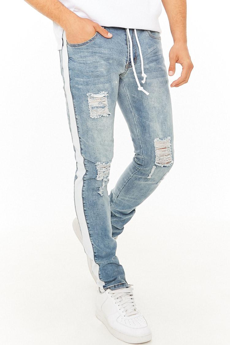 0225d08a608 Forever 21 Kdnk Striped Jeans in Blue for Men - Lyst