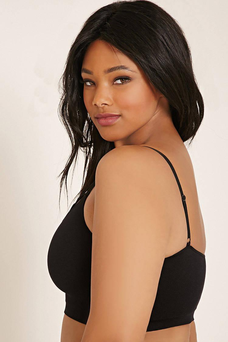 8b54d7dd54384 Forever 21 Plus Size Caged-front Bralette in Black - Lyst
