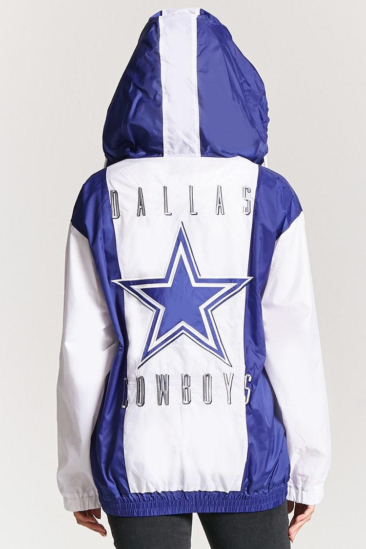 wholesale dealer 9a969 838ca Forever 21 Blue Nfl Dallas Cowboys Graphic Anorak Jacket