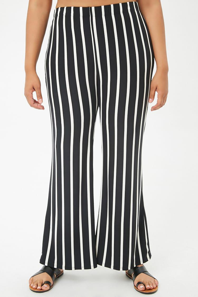 20b1f24224b Forever 21 Women s Plus Size Striped Flared Wide-leg Trousers in ...