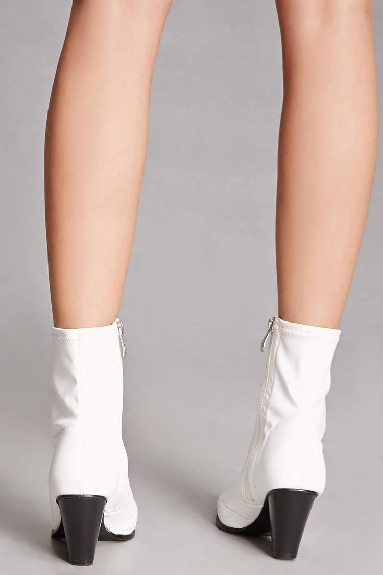Forever 21 Pointed Faux Leather Ankle