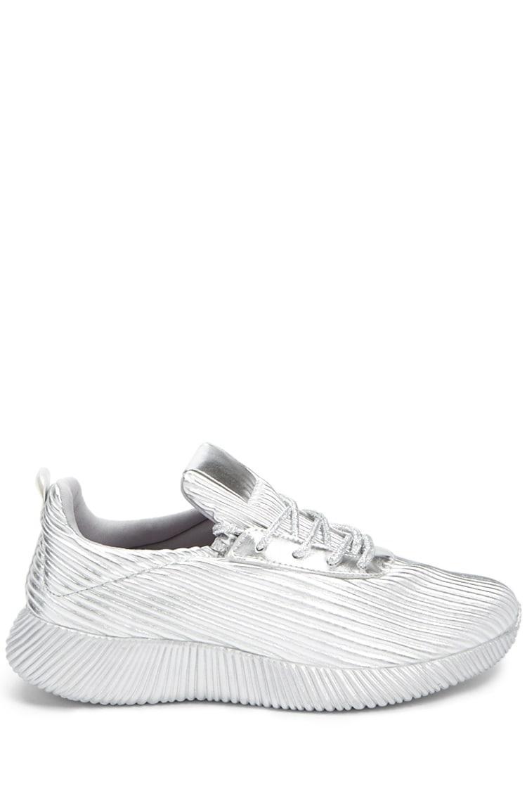 3de5447e5dff Lyst - Forever 21 Qupid Metallic Sneakers in Metallic