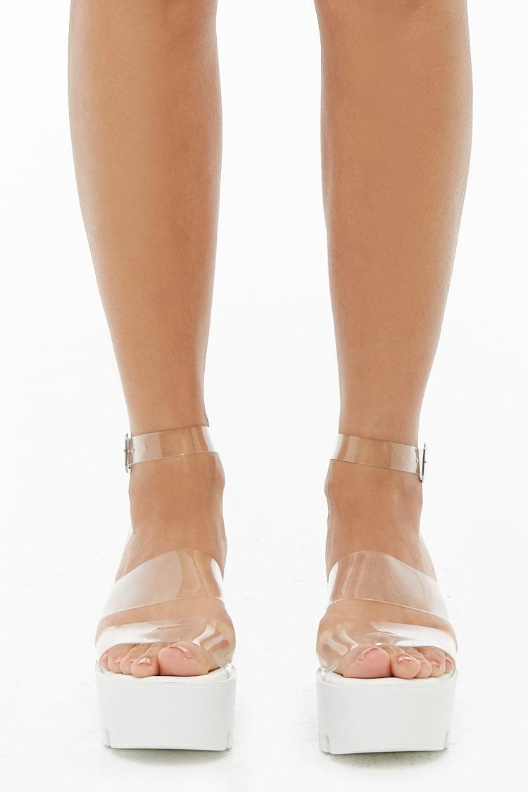 Vinyl Strap Platform Sandals