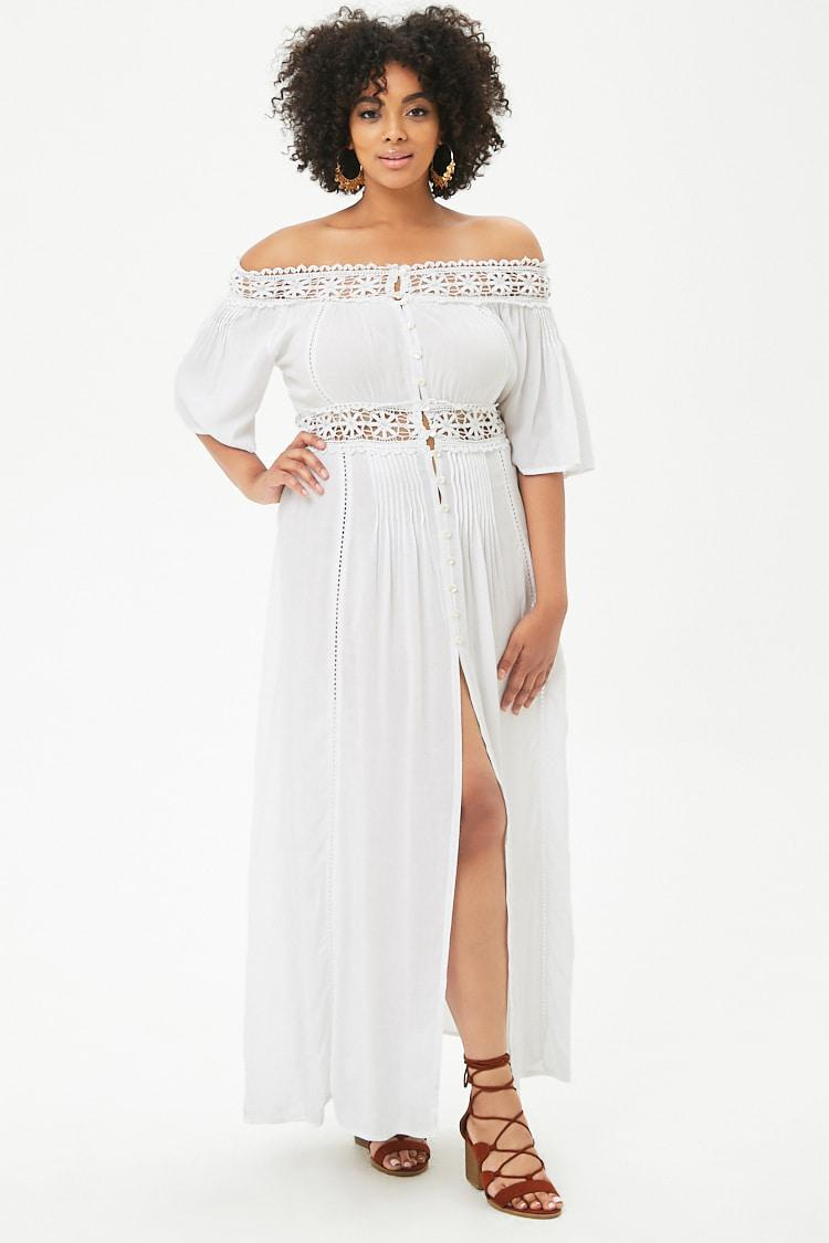 ac2a904f7b Forever 21 Women's Plus Size Boho Me Crochet-trim Maxi Dress in ...