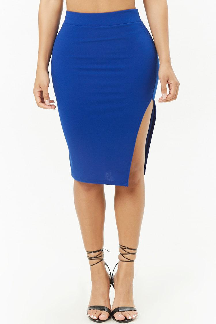 733dd3a1c0 Forever 21 Women's Lace-up Tube Top & Pencil Skirt Set in Blue - Lyst
