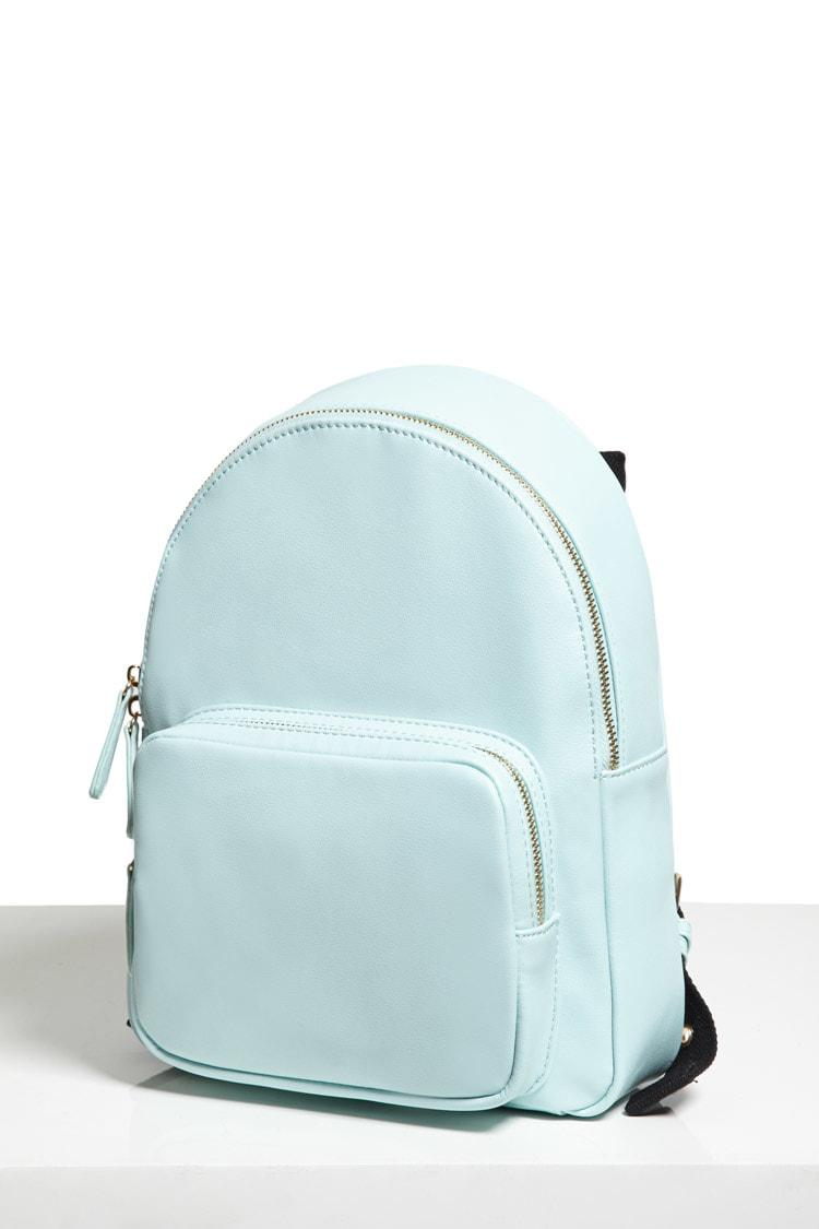 Lyst - Forever 21 Faux Leather Mini Backpack in Blue 8144538747d72