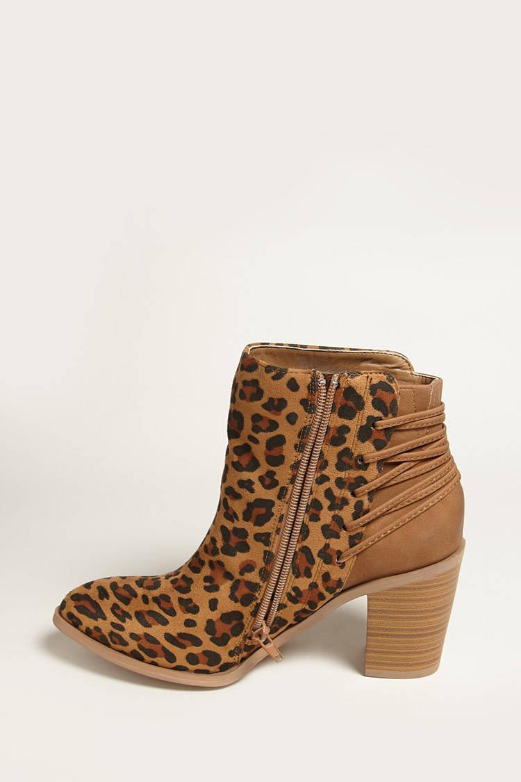 Volatile Leopard Ankle Boots