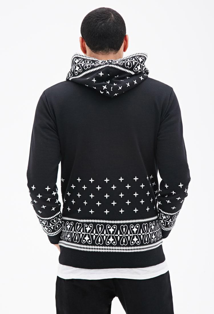 186b28d00f Forever 21 Black Bandana Print Hoodie for men