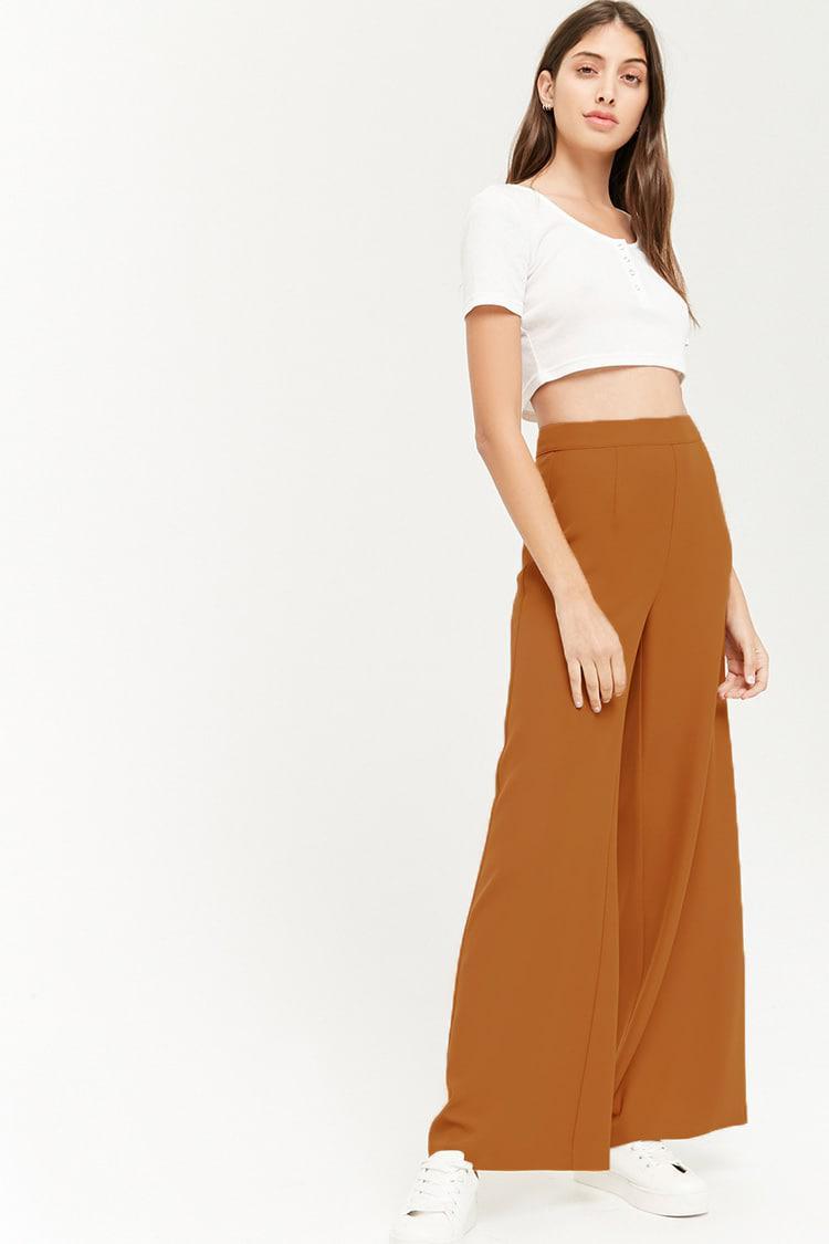675b9f603b Forever 21 Women's Wide-leg Trousers in Brown - Lyst