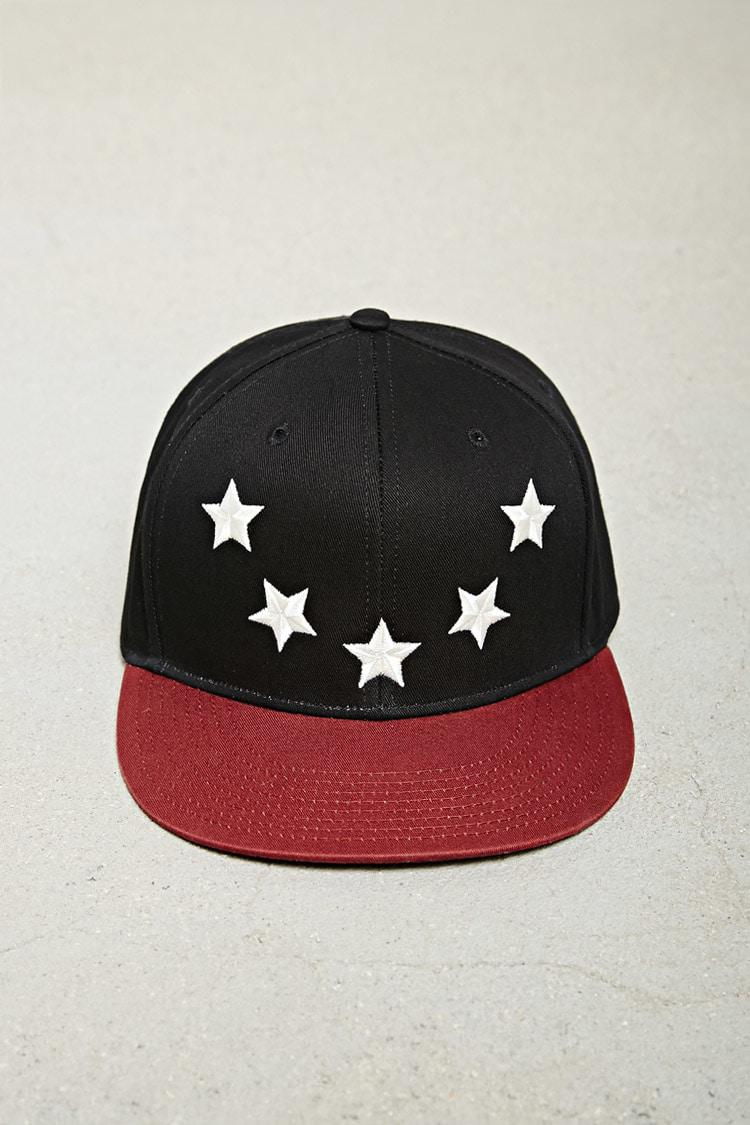 e8416212966 Lyst - Forever 21  s Five Star Two-tone Snapback Hat in Black for Men