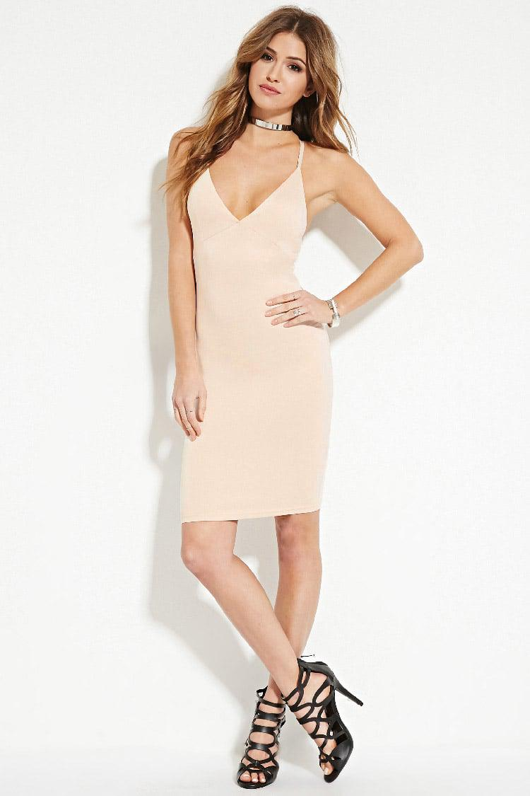 ddca375ecdc Forever 21 Cami Bodycon Dress in Natural - Lyst