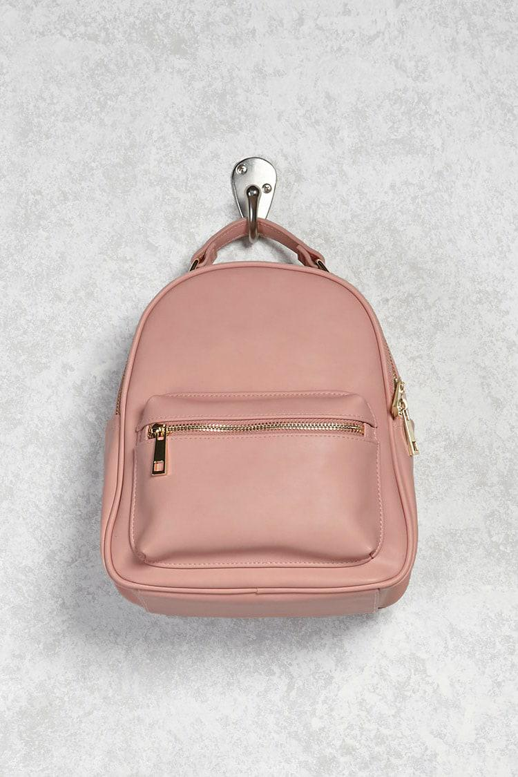 e94b8d9c051e Forever 21 Faux Leather Backpack in Pink - Lyst