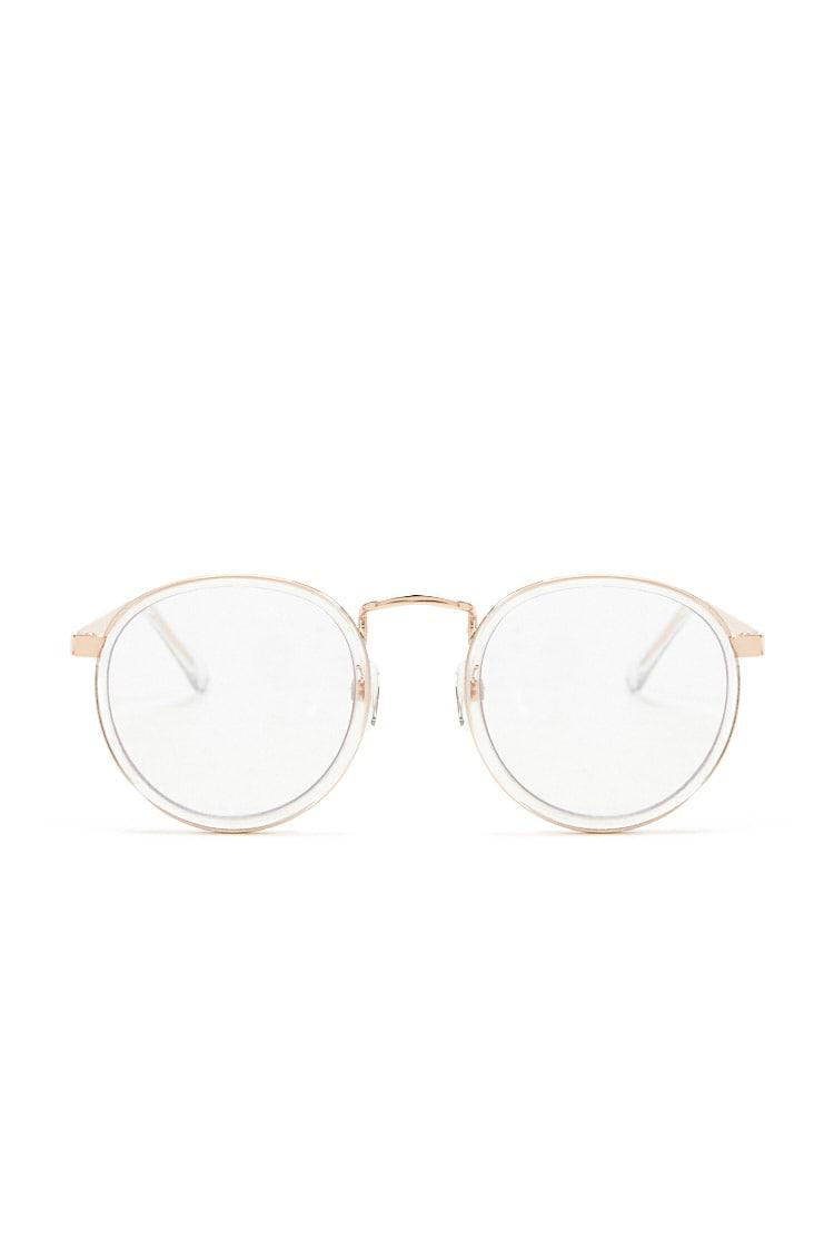 17c52c054a Forever 21. Women s Metallic Clear Round-eye Readers