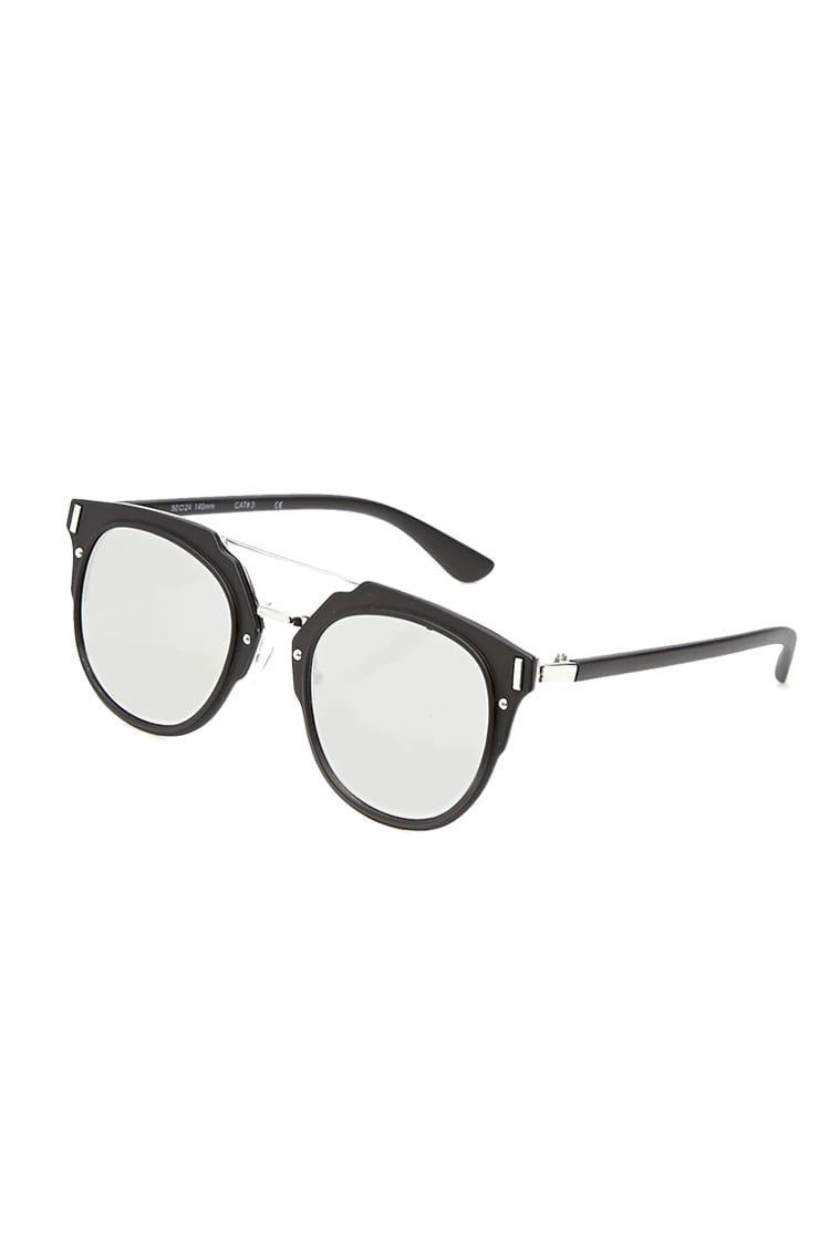 6a0e5c981 Forever 21 Men Mirrored Round Sunglasses in Metallic for Men - Lyst