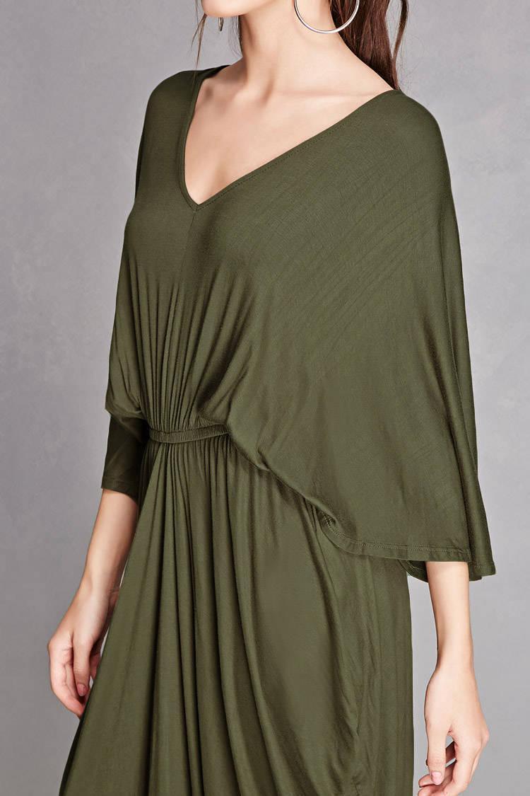 Coocon olive green maxi dress