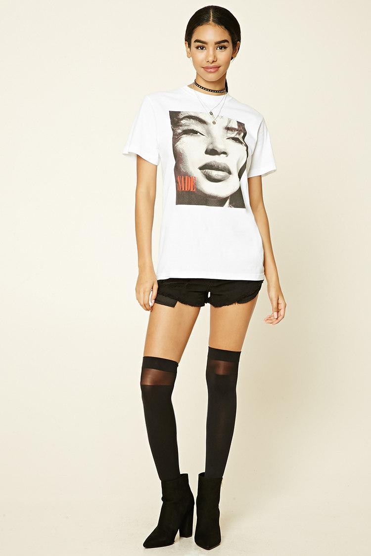 Forever 21 Sade Graphic Tee in White - Lyst
