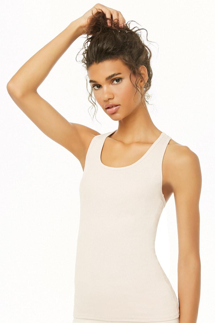 143fda67cafb6 Forever 21 Women s Active Ribbed Knit Tank Top - Lyst