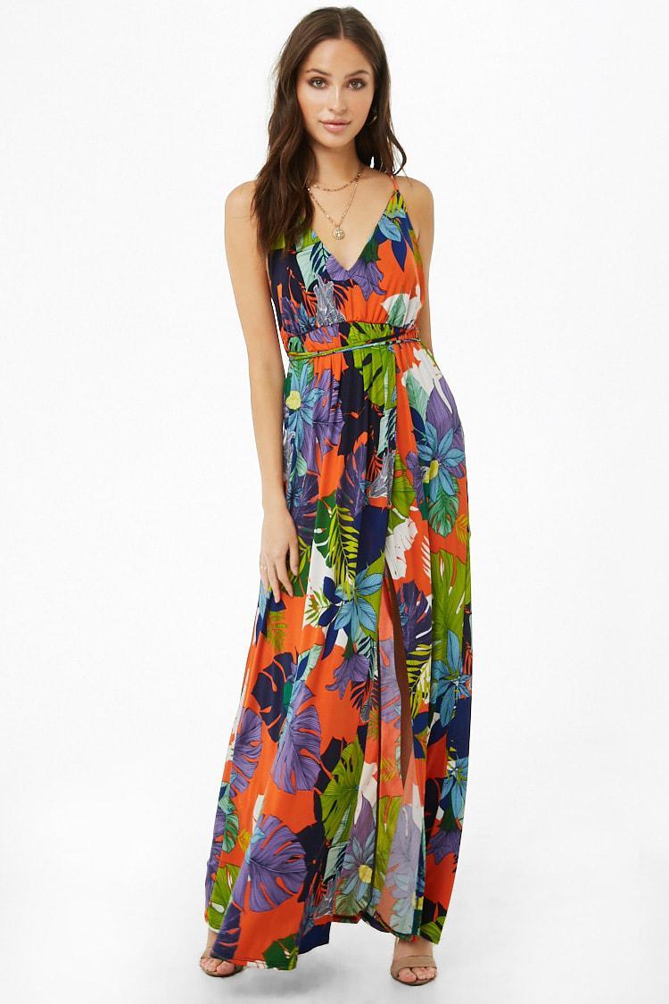Orange Tropical Dress