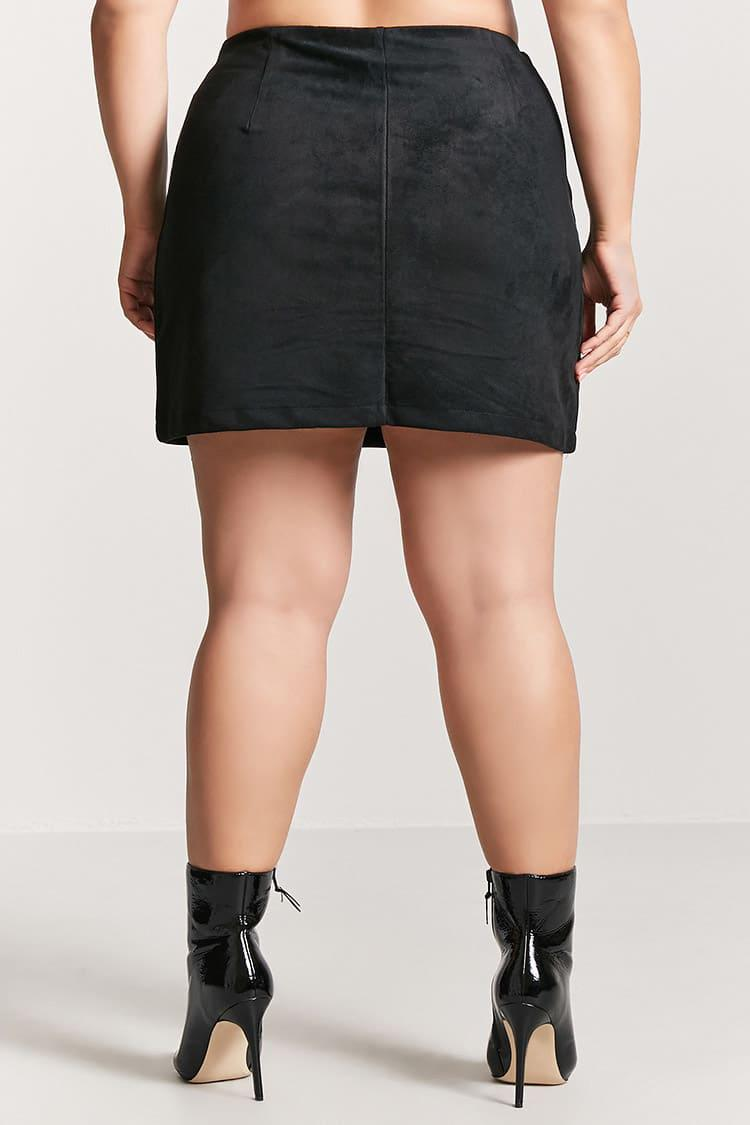 33891f24c14 Forever 21 Plus Size Faux Suede Mini Skirt in Black - Lyst