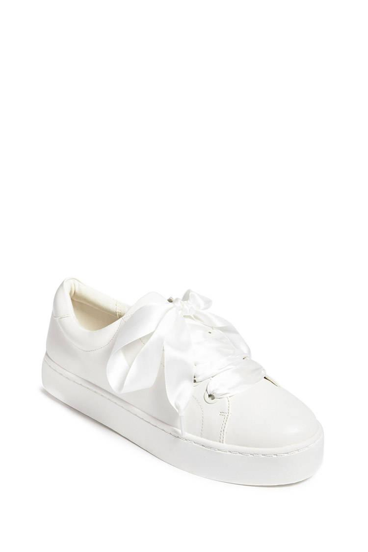 Lyst - Forever 21 Low-top Platform Sneakers in White 0856cc62ee