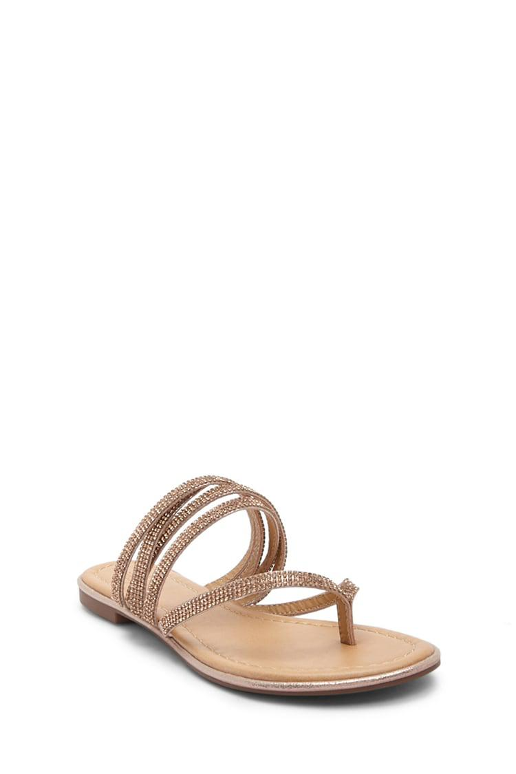 0662e83616c3f8 ... Faux Gem Strappy Thong Sandals - Lyst. View fullscreen