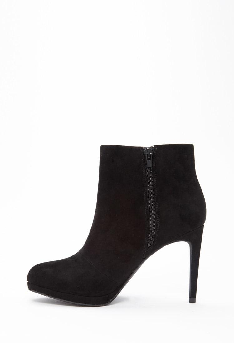 Forever 21 Synthetic Faux Suede Booties