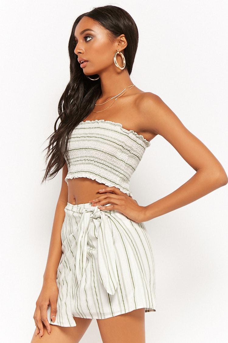 f5af5f44e6 Forever 21 Striped Tube Top   Mini Skirt Set - Lyst