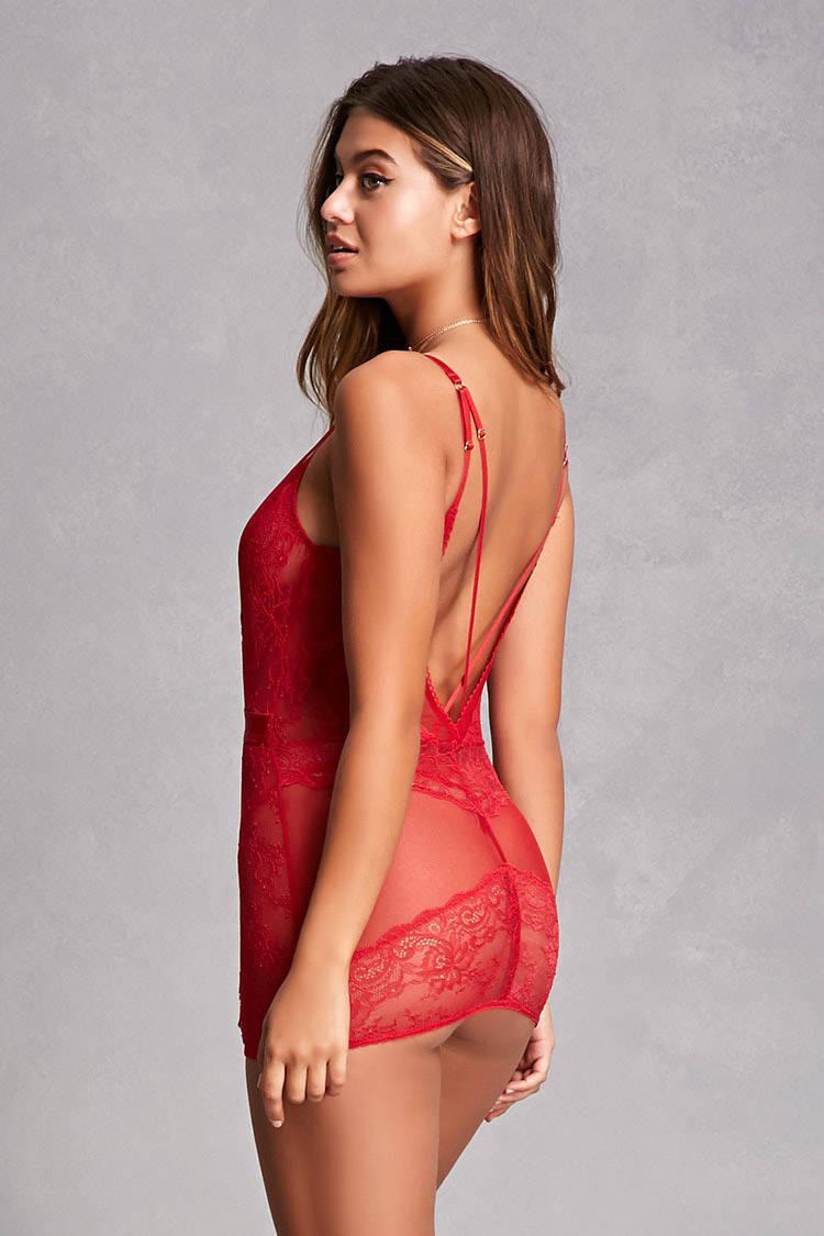 3ad70d5dab6c6 Forever 21 Oh La La Cheri Slip   Panty Set in Red - Lyst