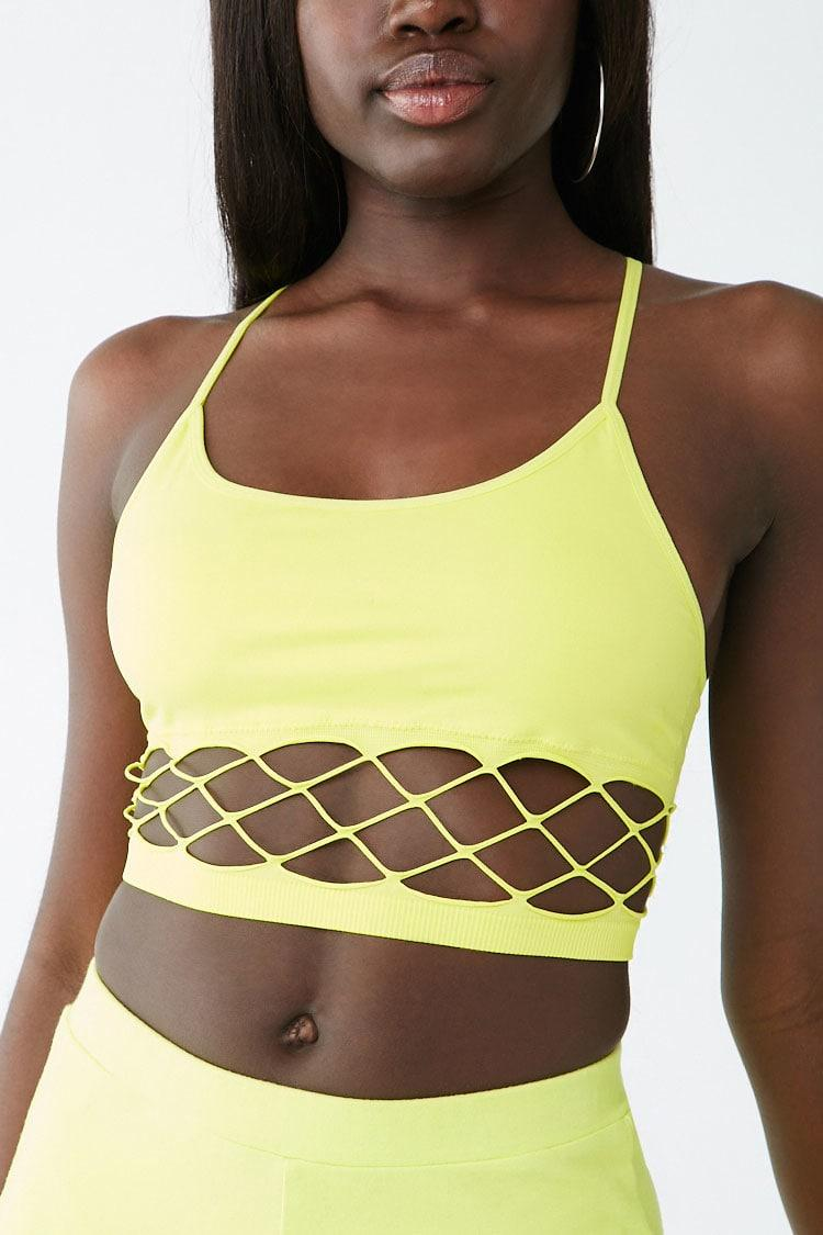 3e00c99afce8d Lyst - Forever 21 Seamless Caged Bralette in Yellow