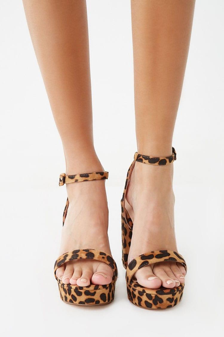 Forever 21 Leopard Print Platform Heels