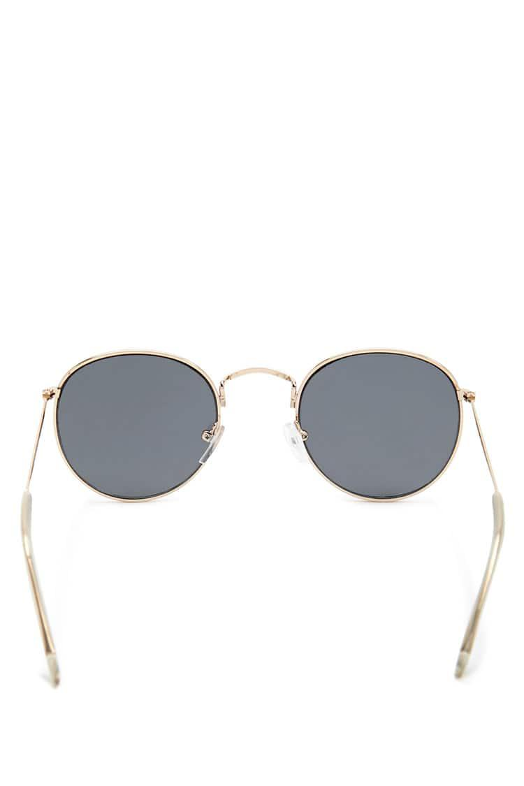 f5532bd063 Lyst - Forever 21 Etched Round Sunglasses in Metallic
