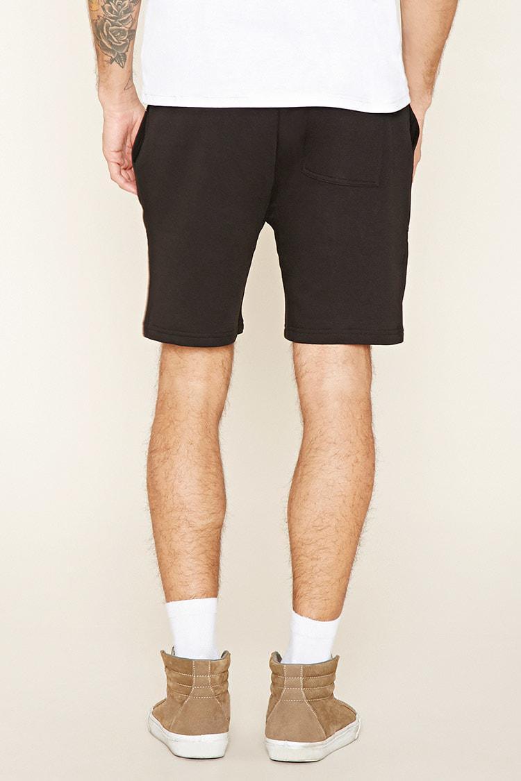 ... Black Mesh-pocket Sweatshorts for Men - Lyst. View Fullscreen