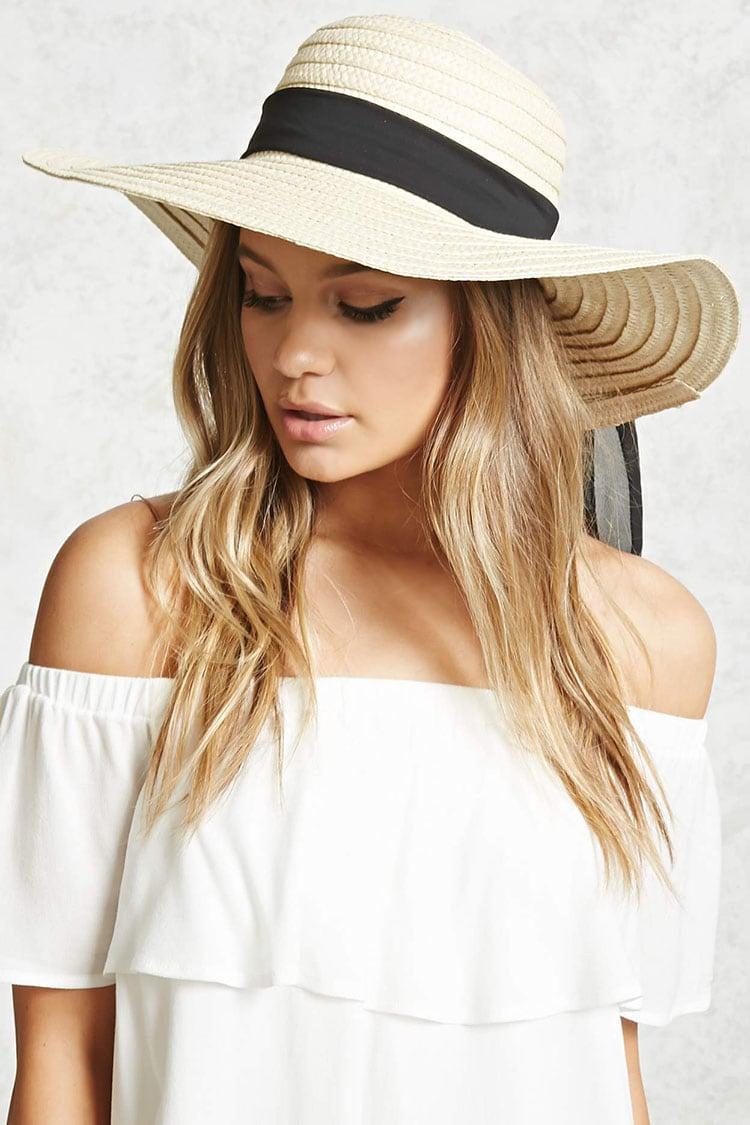 584d54e8 Lyst - Forever 21 Wide-brim Straw Floppy Hat