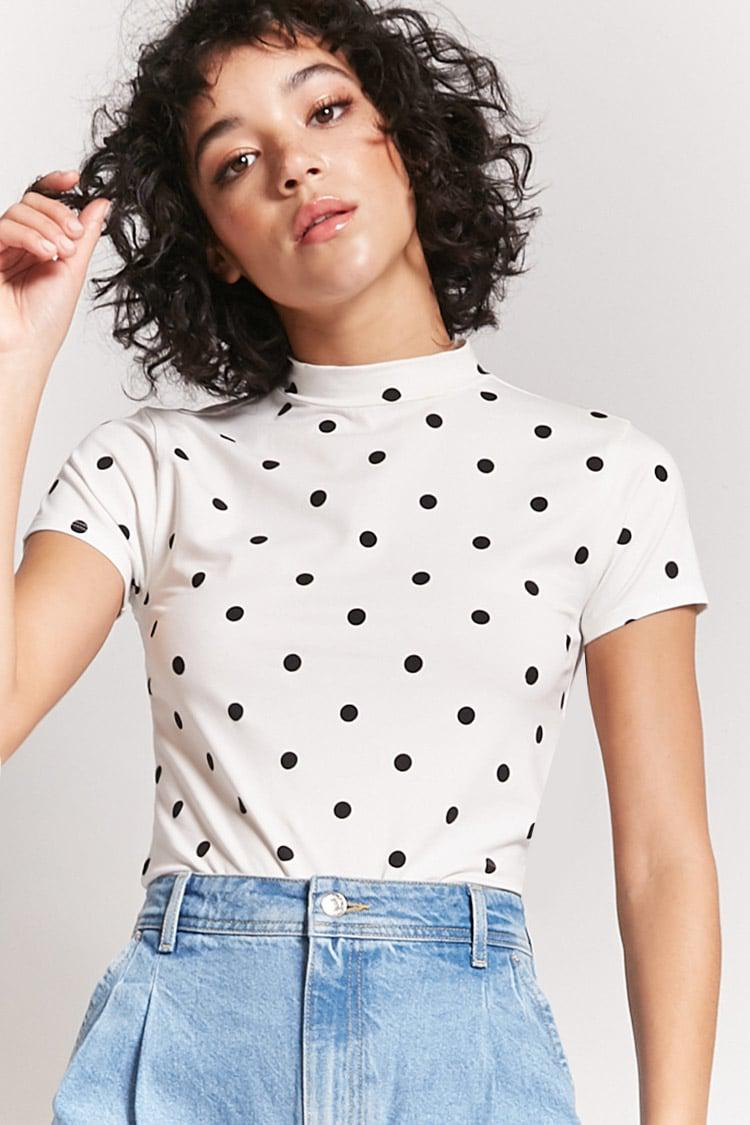 Lyst Forever 21 T Shirt Mit Polka Dots