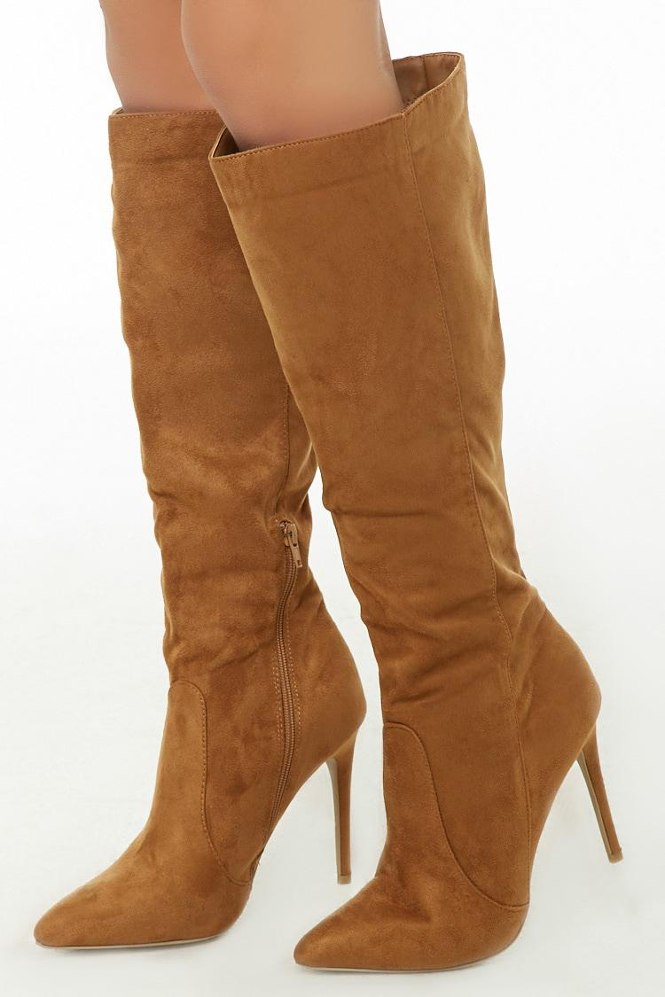 45703377265 Lyst - Forever 21 Knee-high Stiletto Boots in Brown