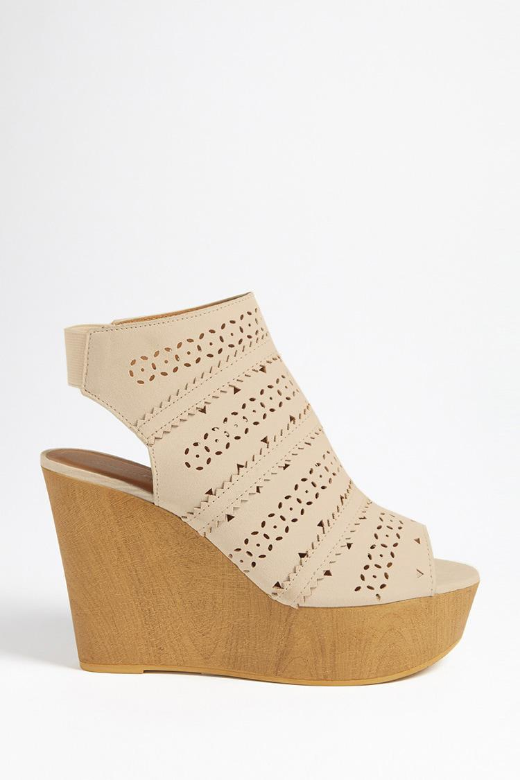 Qupid Faux Suede Wedges