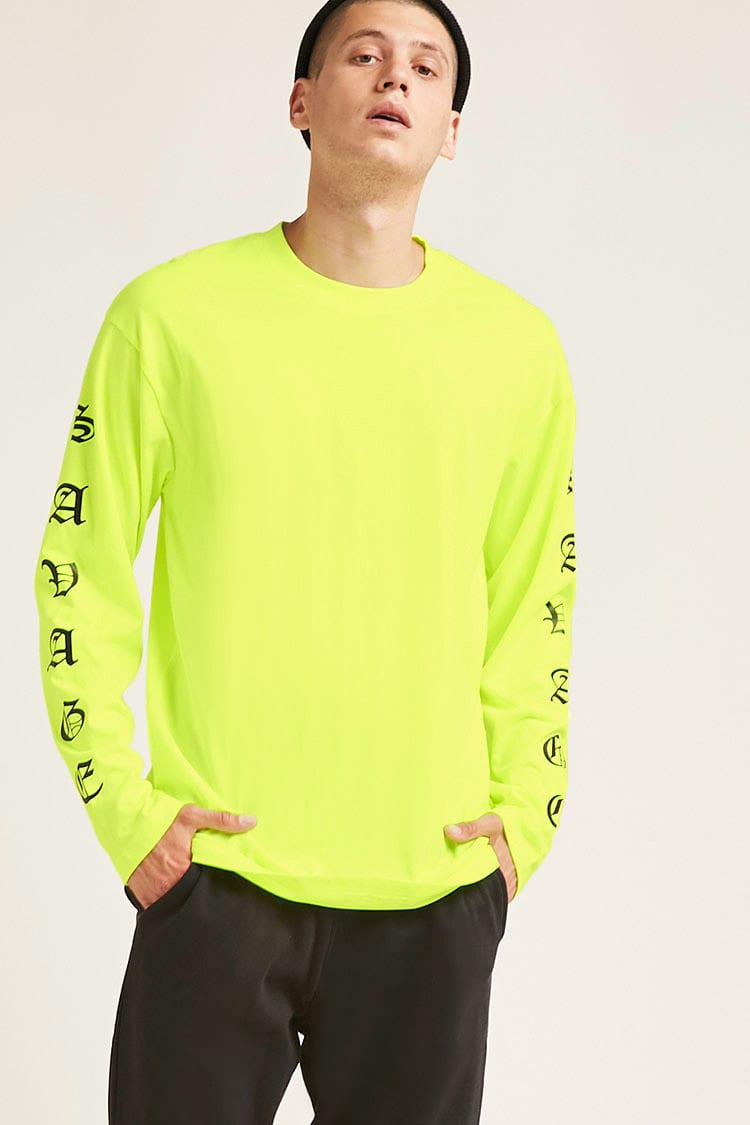 Forever 21 Savage Graphic Tee In Yellow For Men Lyst