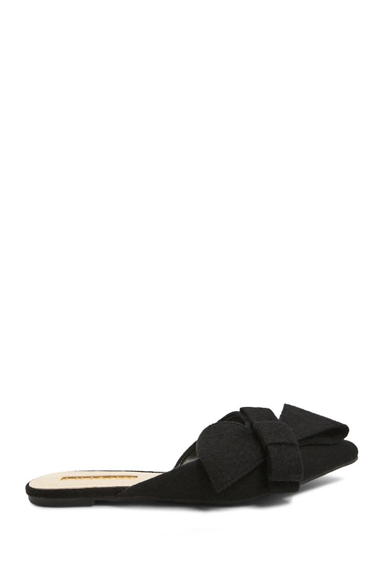 878f46adb32 Forever 21 Black Bow Pointed-toe Mules
