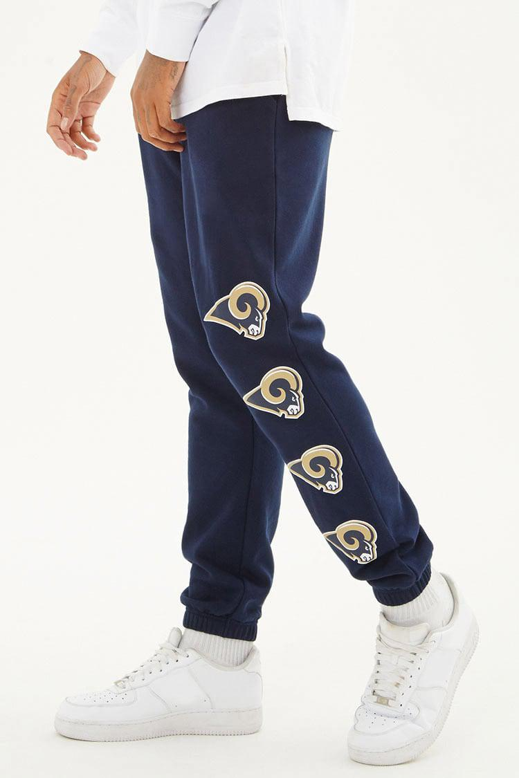 superior materials bright n colour top-rated latest Forever 21 Blue Nfl Rams Fleece Joggers for men