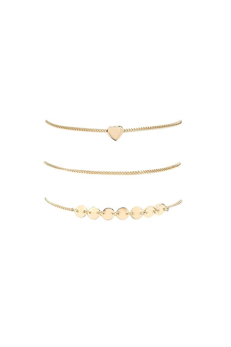 Forever 21 Charm Bracelet Set In Gold