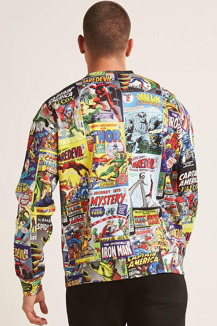 910b7fb7 Forever 21 Marvel Comics Graphic Sweatshirt in Blue for Men - Lyst
