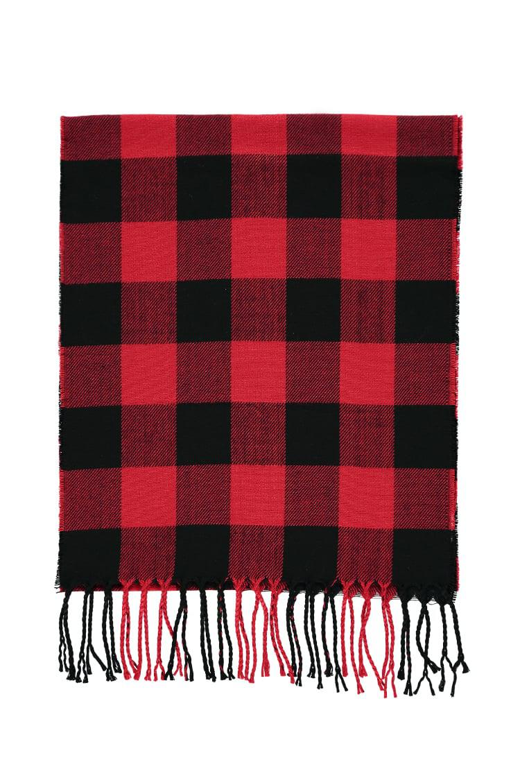 4d217a0edebbc Forever 21 Men Flannel Check Scarf in Red for Men - Lyst