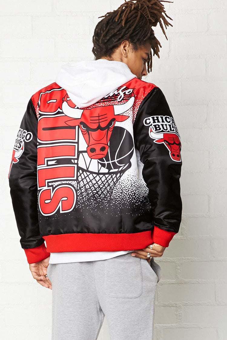 fc00c724b0ba5 Forever 21 Nba Chicago Bulls Bomber Jacket in Red for Men - Lyst