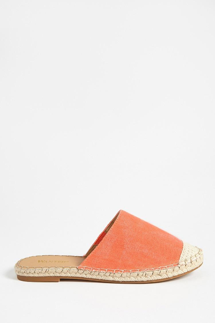 a6e3850b50c Lyst - Forever 21 Wanted Shoes Canvas Espadrille Mules