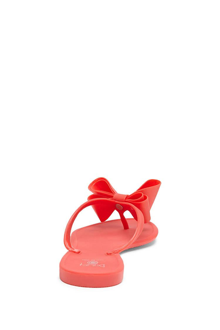 58bf00fae6be71 Lyst - Forever 21 Dizzy Jelly Bow Sandals in Red
