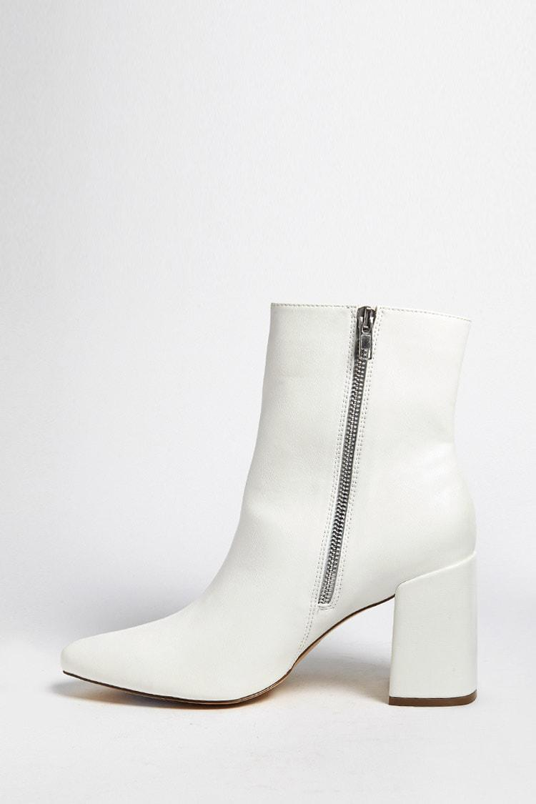 Forever 21 Faux Leather Ankle Boots in