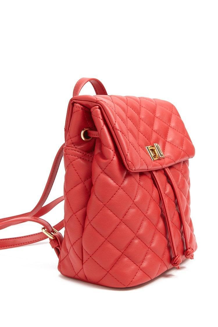 f975d4ae98 Sac à dos en similicuir Forever 21 en coloris Rouge - Lyst