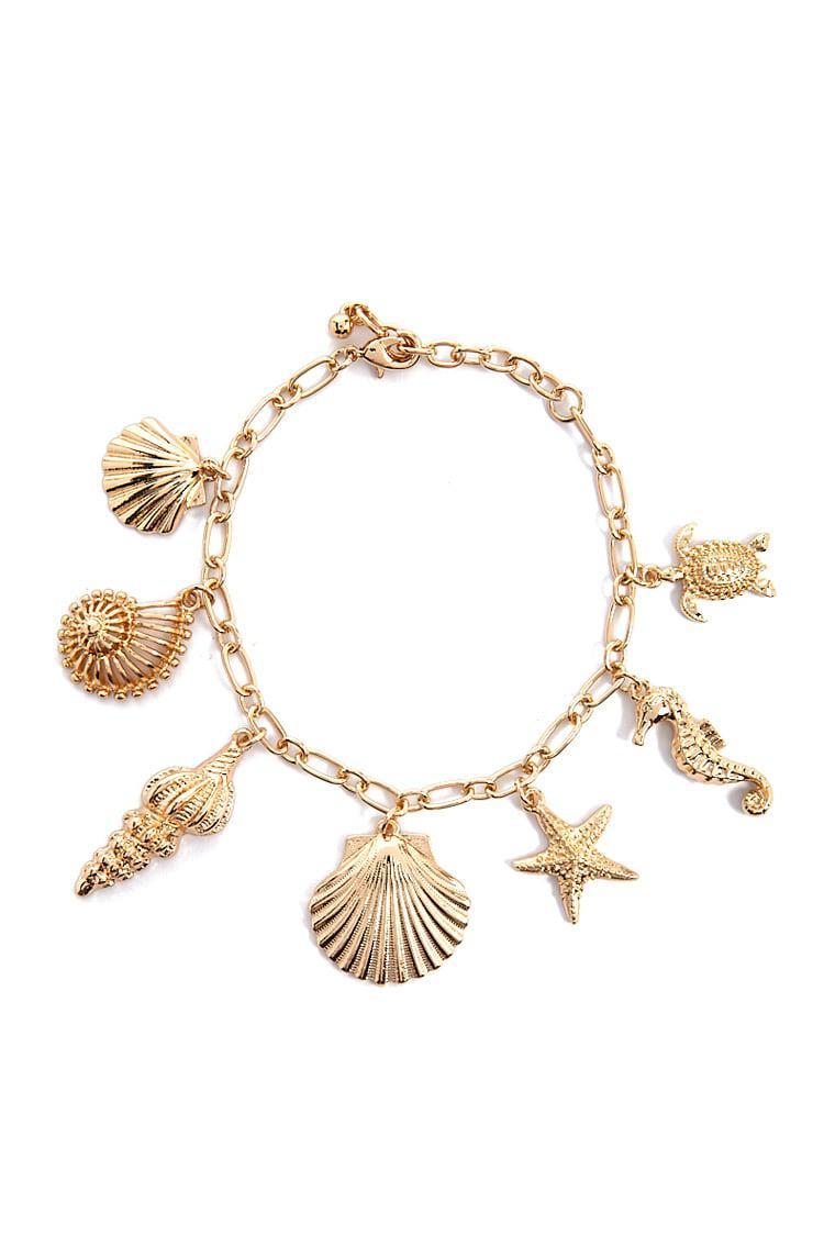 Forever 21 Seas Charm Bracelet In